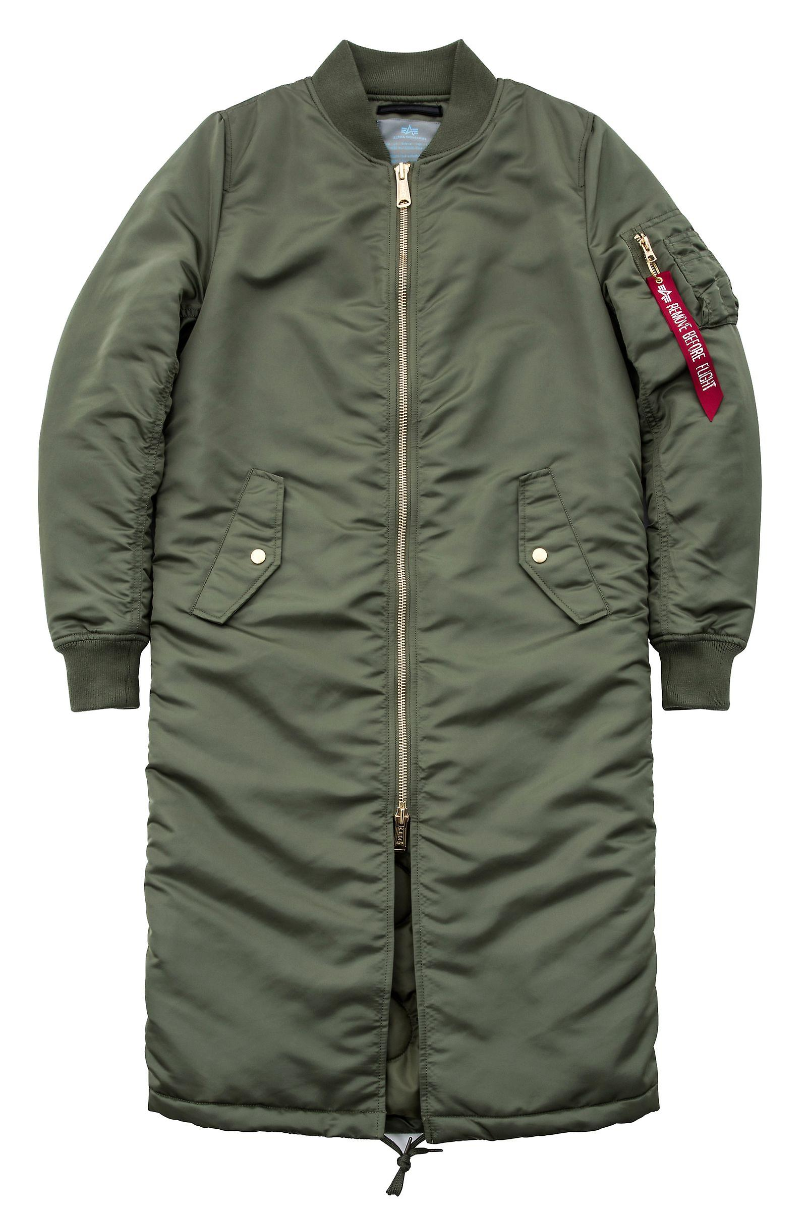 Alpha industries ladies jacket MA-1 coat PM long Wmn  bf850ee28e3d