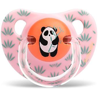 Suavinex Anatomical Pacifier Latex and Brooch Red Panda Pink 6 to 18 Months
