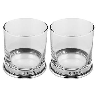 Vogue Pewter Whisky Glass Tumbler - Set of 2