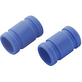 Silicone connector (Ø x L) 28 mm x 55 mm Blue Reely Compatible with: 3.46-6.23cc nitro engines 1 pair