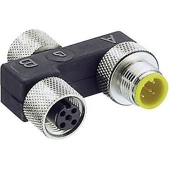Sensor & actuator box (passive) M12 splitter + steel thread 0906 UTP 101 7843 Lumberg Automation 1 pc(s)