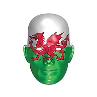 Union Jack Wales Flagge Maske tragen