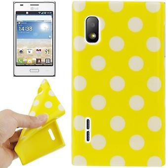Skyddande fall TPU punkterna i fallet för mobil LG Optimus L5 / E610 gul