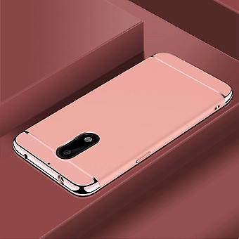 Cell phone cover case for Nokia 6 bumper 3 in 1 cover chrome case rose gold