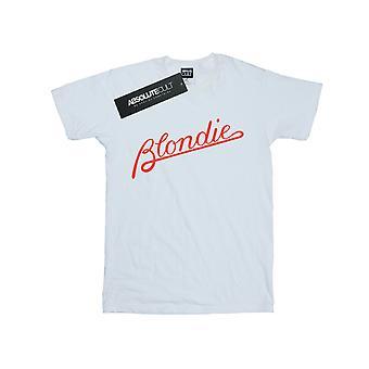 Blondie Women's Lines Logo Boyfriend Fit T-Shirt