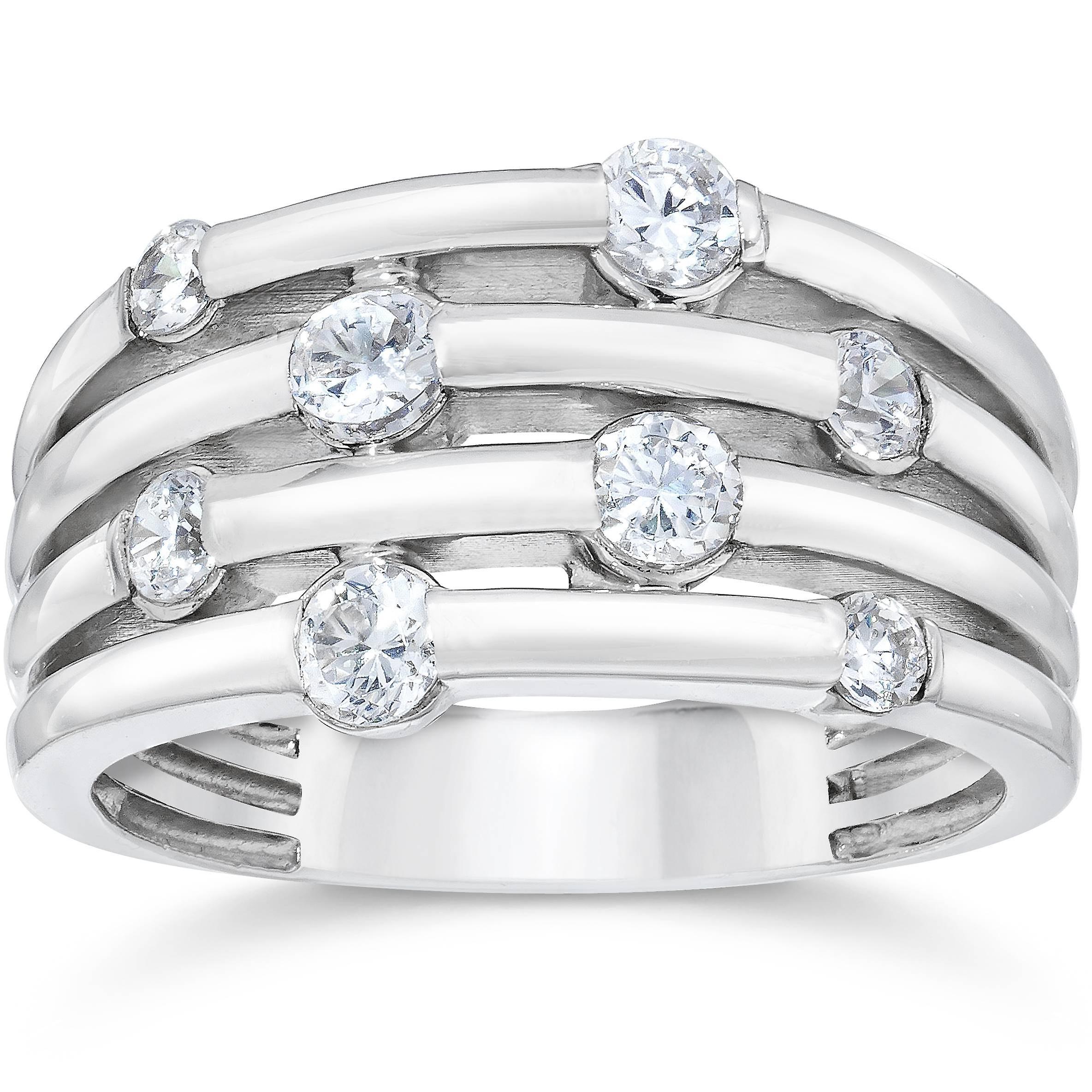 14K blanc or 1ct Real Diamond Right Hand sacue