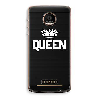 Motorola Moto Z Force transparant Case (Soft) - Queen zwart