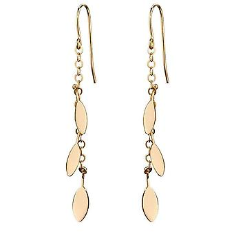 Elements Gold Leaf Charms Drop Earrings - Gold