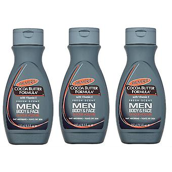 Palmer's Cocoa Butter Formula Men Body & Face Lotion 250ml (3-Pack)