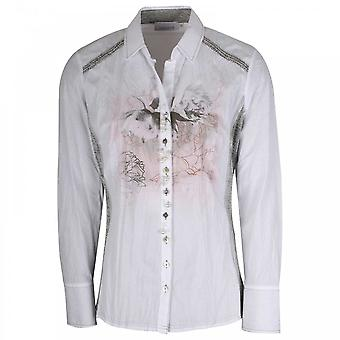 Just White Stretch Side Panel Fitted White Shirt