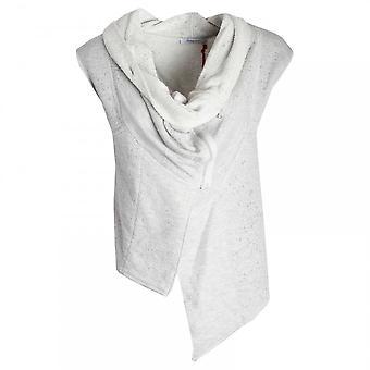 Crea Concept Women's Drape Neck Knitted Waistcoat