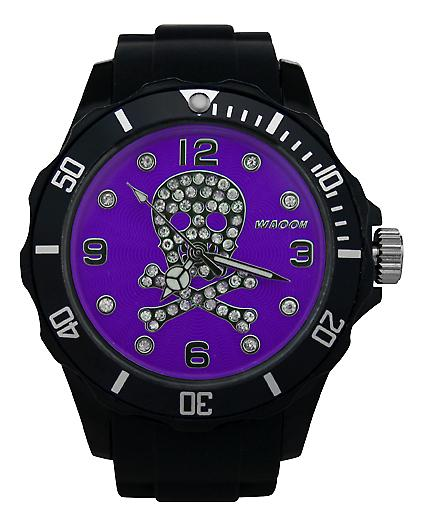 Waooh - Death Watch Rhinestones Black Dial Color Head 39