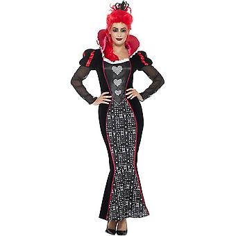 حلي ملكة الظلام الباروك فاخرة، والأحمر، مع فستان آند عقال