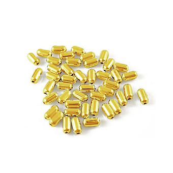 Packet 600+ Golden Iron 2.5 x 5mm Tube Spacer Beads HA07665