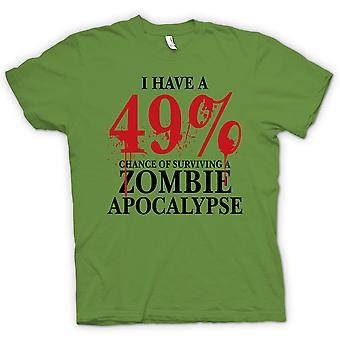 Kids T-shirt-Zombie Apocalypse 49% - Horror grappig