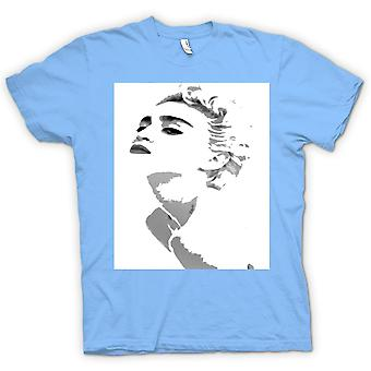 Heren T-shirt - blauw Madonnaight - XL