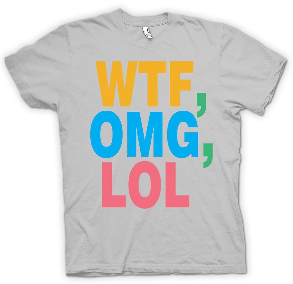 Hommes T-shirt - WTF, OMG, LOL - Drôle