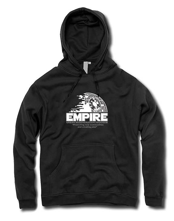 Mens Hoodie - Empire Urban Regeneration Death Star - Star Wars