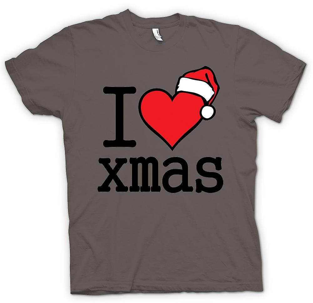 Womens T-shirt - I Love Xmas - Funny Christmas