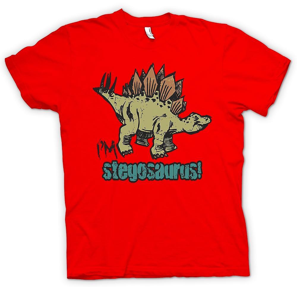 Dinosauro Cool mens t-shirt - Im Stegosaurus-