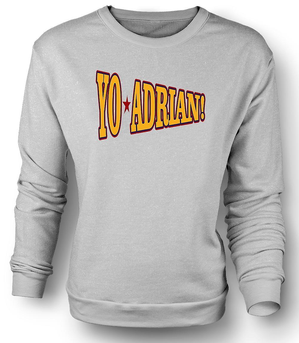 Mens Sweatshirt Rocky Balboa Yo Adrian - Funny