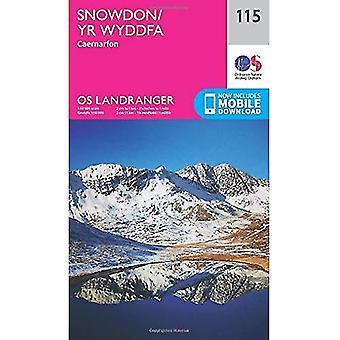 Landranger (115) Snowdon & Caernarfon (OS Landranger kaart)
