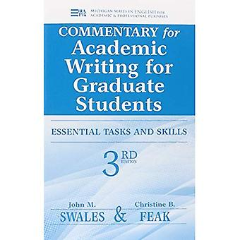 Commentary for Academic Writing for Graduate Students: Teacher'S Notes and Key