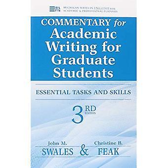 Kommentar för akademiskt skrivande för doktorander: lärarens anteckningar och nyckel