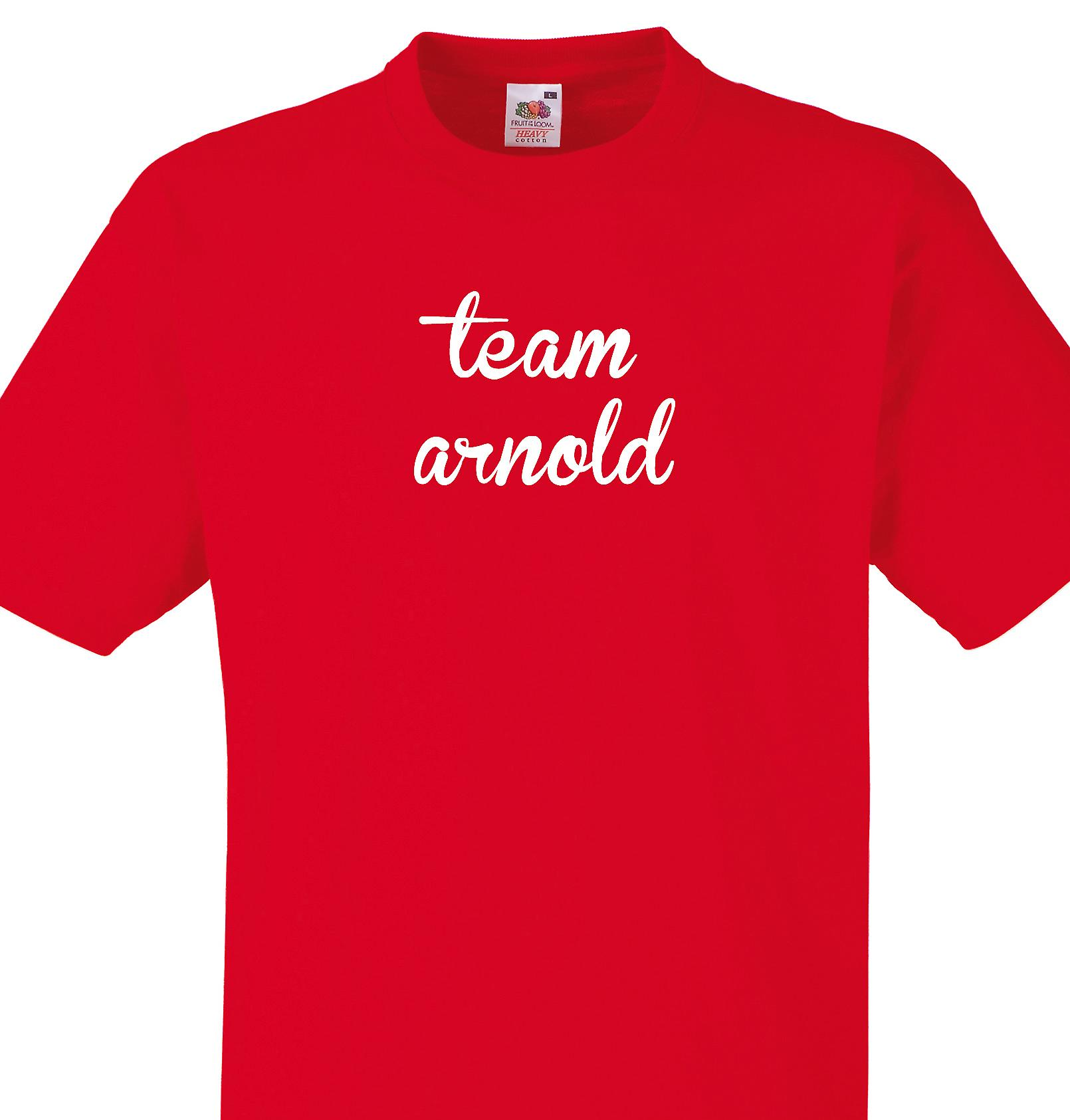 Team Arnold Red T shirt