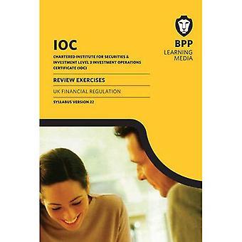 IOC UK Financial Regulation Syllabus Version 22: Review Exercises