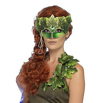 Womens Forest nimf Eyemask weefsel verlaat en juwelen van Fancy Dress accessoire