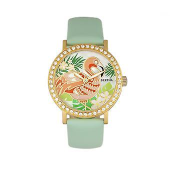 Bertha Luna pärlemor läder-Band Watch - Mint