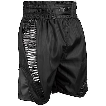 Venum Mens boxe élite troncs cordon Polyester Shorts - All Black