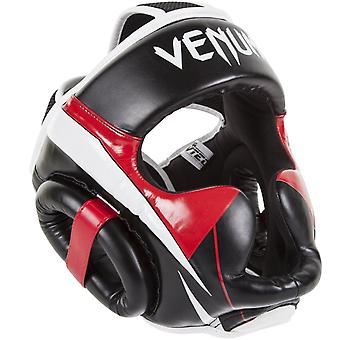Venum Elite Boxing MMA Headgear - Black/White/Red
