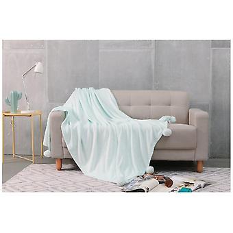 Pom Pom superzachte gooien snoezige Fleece deken voor stoel slaapbank in kleuren