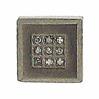 Titanium Gents Crystal Set Square Stud Earring- Single - Jakob Strauss