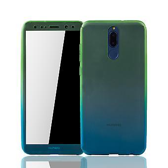 Huawei s'accoupler 10 Lite téléphone mobile coque protection Housse Etui réservoir protection verre vert / bleu