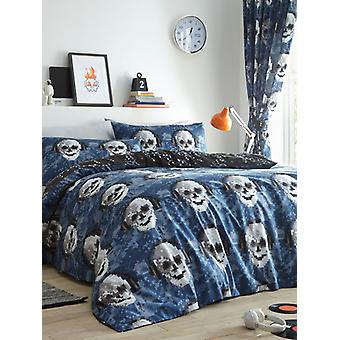 Pixel Skulls Duvet Cover and Pillowcase Set