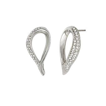 Eternal Collection Persephone Crystal Silver Tone Stud Pierced Earrings