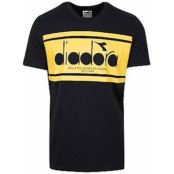 Diadora Diadora Black & Yellow Short Sleeve T-Shirt