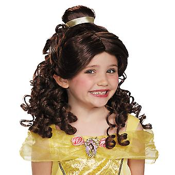Belle Beauty And The Beast Disney Princess Story Book Week Girls Costume Wig