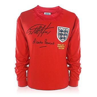 Sir Geoff Hurst And Martin Peters Signed England Football Shirt