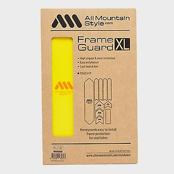 New AMS Cycling Honeycomb Frame Guard Kit XL Yellow