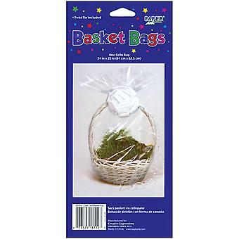 Cellophane Basket Bag 24