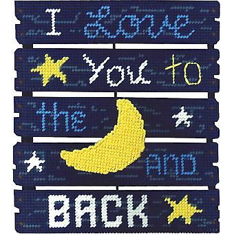 Pallet-Ables Love You To The Moon Plastic Canvas Kit-10.5