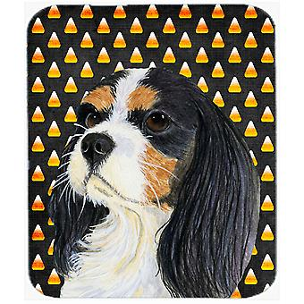 Cavalier Spaniel Tricolor Candy Corn Halloween Mouse Pad, Hot Pad or Trivet