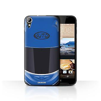 STUFF4 Case/Cover for HTC Desire 830/Superbike/Blue/Motorcycle Helmet