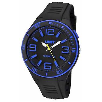 Limit Mens Black Strap Black Dial 5568 Watch