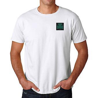 De Koninklijke Ieren geborduurd Logo van de TRF - officiële Britse leger katoenen T Shirt