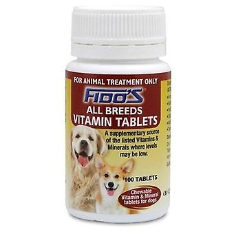 Fidos Vitamin Tablets - All Breeds 100's